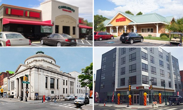 Four of the net-lease properties brokered by CBRE in the first half