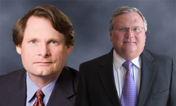 Doug Main, left, was named executive vice president, and Mike Hunter was named director, in the Valuation & Advisory Services group at CBRE's Atlanta office