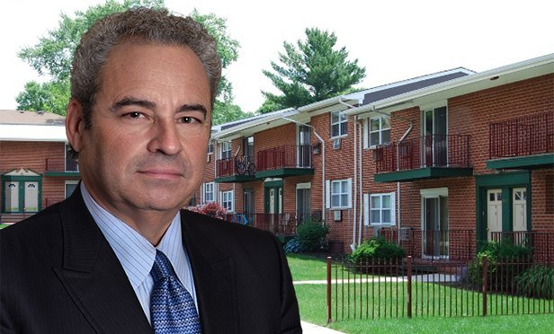 Ken Uranowitz, president, Gebroe-Hammer Associates, with Donaldson Park Apartments, Highland Park, NJ (photo composite)