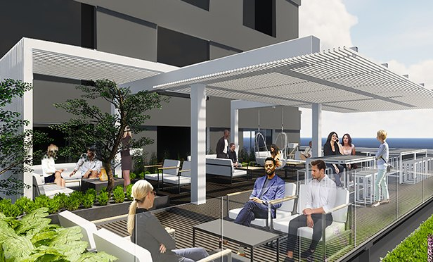 Rendering Of The Planned Rooftop Terrace At Resurgens Plaza, Buckhead,  Atlanta, GA