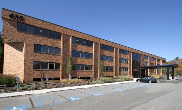435 South Street, Morristown, NJ, part of the three-building portfolio acquired by Harrison Street Real Estate Capital