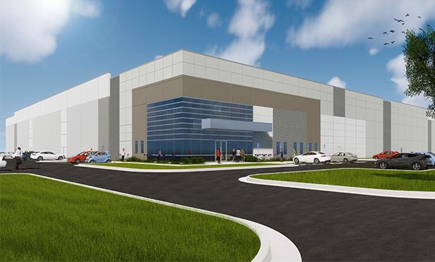 Rendering of Rockefeller Group Logistics Center, Piscataway, NJ