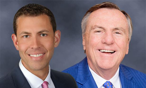 Adam Mullen, left, will replace Bob Walters as market leader for CBRE's Greater Philadelphia Region when Walters retires Dec. 31