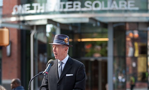 Developer Carl Dranoff of Dranoff Properties at recent opening of One Theater Square, Newark, NJ