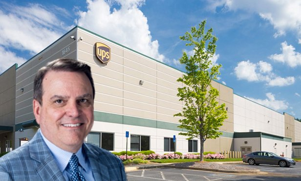 Lew Friedland, managing director at Colony Capital and head of Colony Industrial, with 1645 Satellite Blvd, Duluth, GA (Photo composite)