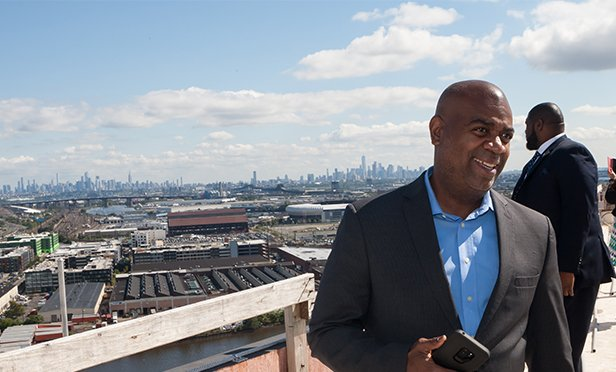 Newark Mayor Ras Baraka on the roof of One Theater Square, Newark, NJ