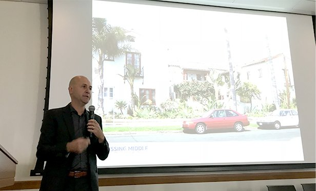 "Daniel Parolek of Berkeley, CA-based Opticos Design, discusses the ""Missing Middle"" of housing at Drexel University, October 12, 2018"
