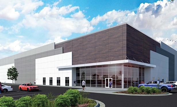 Rendering of Rockefeller Group Logistics Park, Allen Township, PA