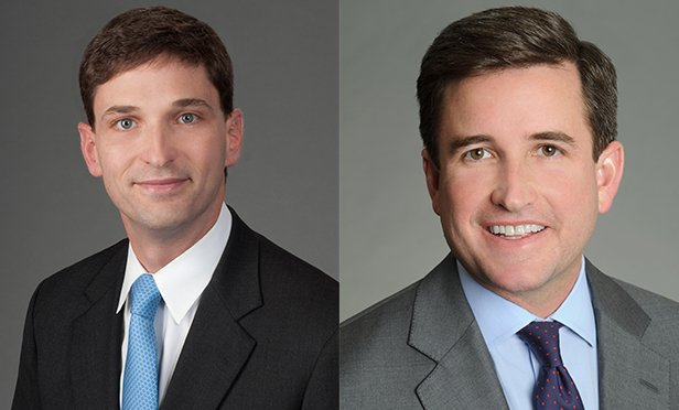 Chris Bosworth, left, and WIll Pike, co-heads of the Net Lease Properties group at CBRE, were both named vice chairmen of the firm.