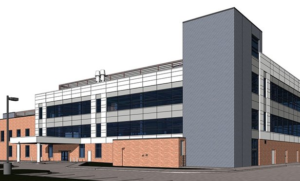 Rendering of 75,000-square-foot neighborhood facility in Hempfield Township, PA, being built for Allegheny Health Network by Seavest Healthcare Properties and Trammell Crow