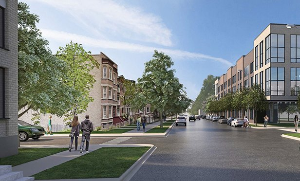 Rendering of Ogden Commons, Chicago, IL