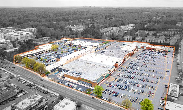 Aerial view of The Exchange at Hammond and Parkside Shops, Sandy Springs, GA