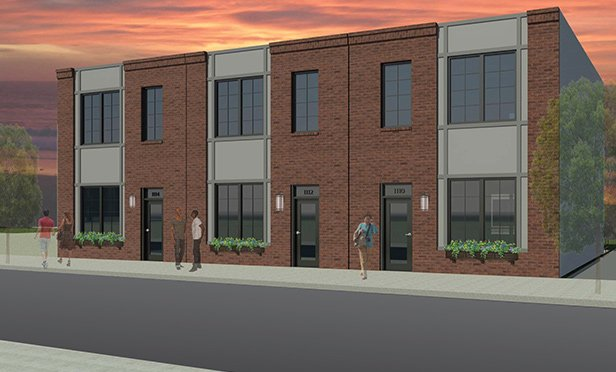 Rendering of West Poplar Homes, 11th and Wallace Streets, Philadelphia, PA