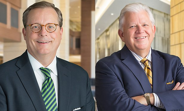 Collin Barr, left, and Rick Collins were named regional presidents for the Ryan Companies
