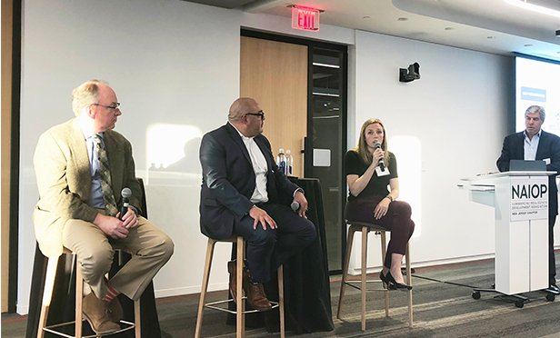 Panelists at the NAIOP NJ 'Future Proof Your Building' conference, from left, are: Tom Jackson, Ernst & Young; John Dimitrakakis, JMA Wireless; Victoria Lamberth, ZenFi Networks; and Rich Berliner, Fifth Gen Media.