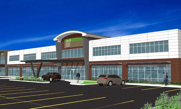 Rendering of Northwest Community Healthcare Outpatient Center, Kildeer, IL