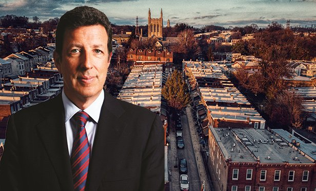 Stuart Boesky, CEO, Pembrook Capital, with a Philadelphia neighborhood (photo composite).
