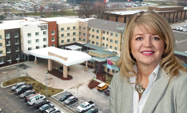 Linda Eigelberger, vice president, sales and revenue management, Midas Hospitality, with Midas' Residence Inn and Fairfield Inn, Westport, MO (Photo composite)