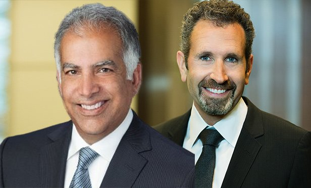 Naveen Jaggi, president, JLL Retail Advisory and Capital Markets in the Americas, left, and Kenneth Frieze, chief executive officer of Gordon Brothers