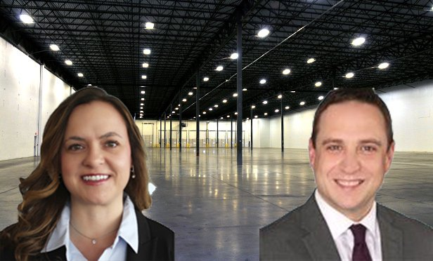 Jennifer Olsen, senior research analyst, left, and Craig Hurvitz, vice president, Colliers International, produced the firm's big-box industrial research report