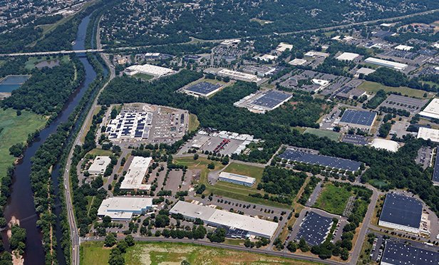 Aerial view of the properties in the Somerset, NJ, portion of the industrial portfolio Ivy Realty acquired