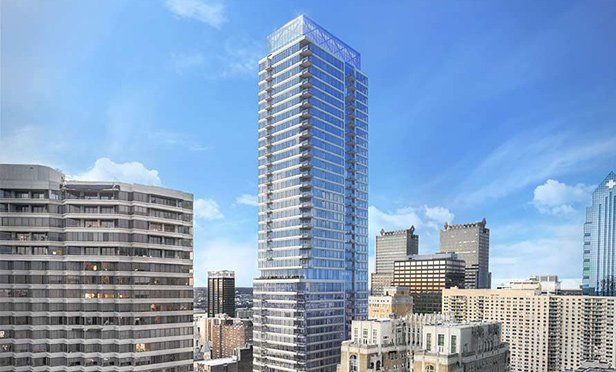 Rendering of The Laurel, under construction at Rittenhouse Square, Philadelphia, PA