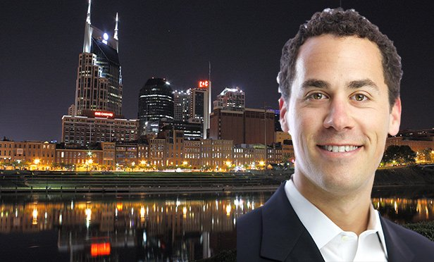 Andrew Schwartzman, principal, FD Stonewater, with Nashville skyline (Photo composite/Skyline photo by Dimitrio Lewis/Flickr.com via Creative Commons license)