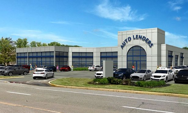 Rendering of AutoLenders, 305 W. Lincoln Highway, Exton, PA