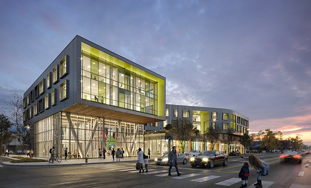 Rendering of Northtown Library, 6800 N. Western Ave., Chicago, IL