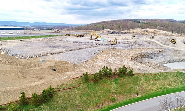 Construction of spec industrials is underway at Mericle Commercial Real Estate Services' CenterPoint Commerce & Trade Park in Jenkins Township and Pittston Township, PA