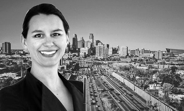 Jessica Mogilka, executive vice president, JLL, Minneapolis (Minneapolis skyline photo by Daniel McCullough on Unsplash.com)