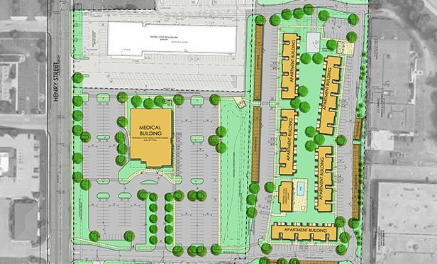 Color plan for Muskegon Shopping Center redevelopment