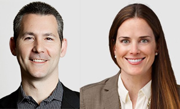 Jeffrey Tosello, left, and Meredith Kern, partners at PSG, will continue to run Cresa Lease Administration after the acquisition