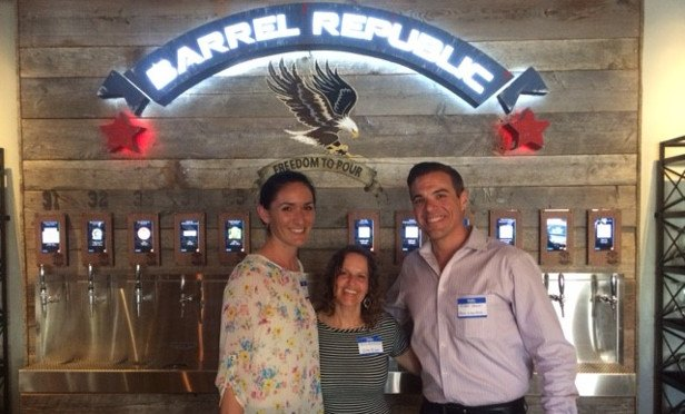 GlobeSt.com's Natalie Dolce, Carrie Rossenfeld and Bank of the West's Michael Hoover