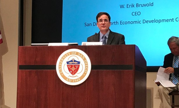 Erik Bruvold at San Diego County Economic Roundtable