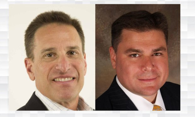 Craig Romer, principal, left, and Chris Romer, director, right, of Dockerty Romer & Co., a Delray Beach-based commercial real estate mortgage banking firm.