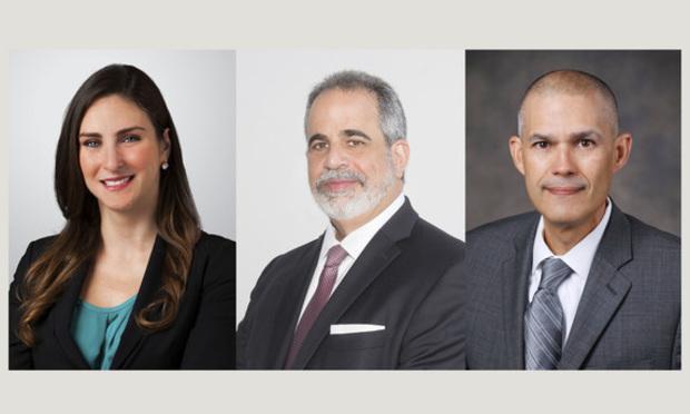 Holland & Knight partner Elena Otero represented Ocean Bank executive vice president and chief lending officer Ralph Gonzalez-Jacobo and senior vice president and corporate lending group manager Federico Tunnermann.