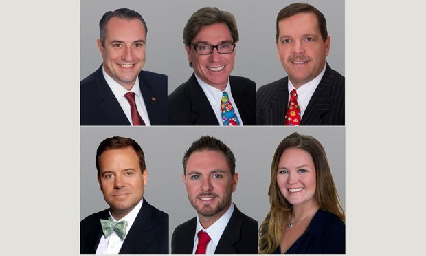 The Cushman & Wakefield team, top row, left to right: Christopher Thomson, Chris Metzger and Rick Etner Jr. Bottom row, left to right: Mark Pateman, Matthew McAllister and Tara England. Courtesy photos