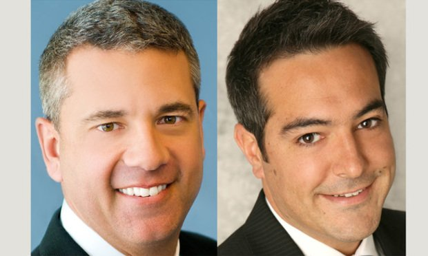 Christian Lee, left, and Jose Lobon, right, of CBRE/courtesy photos