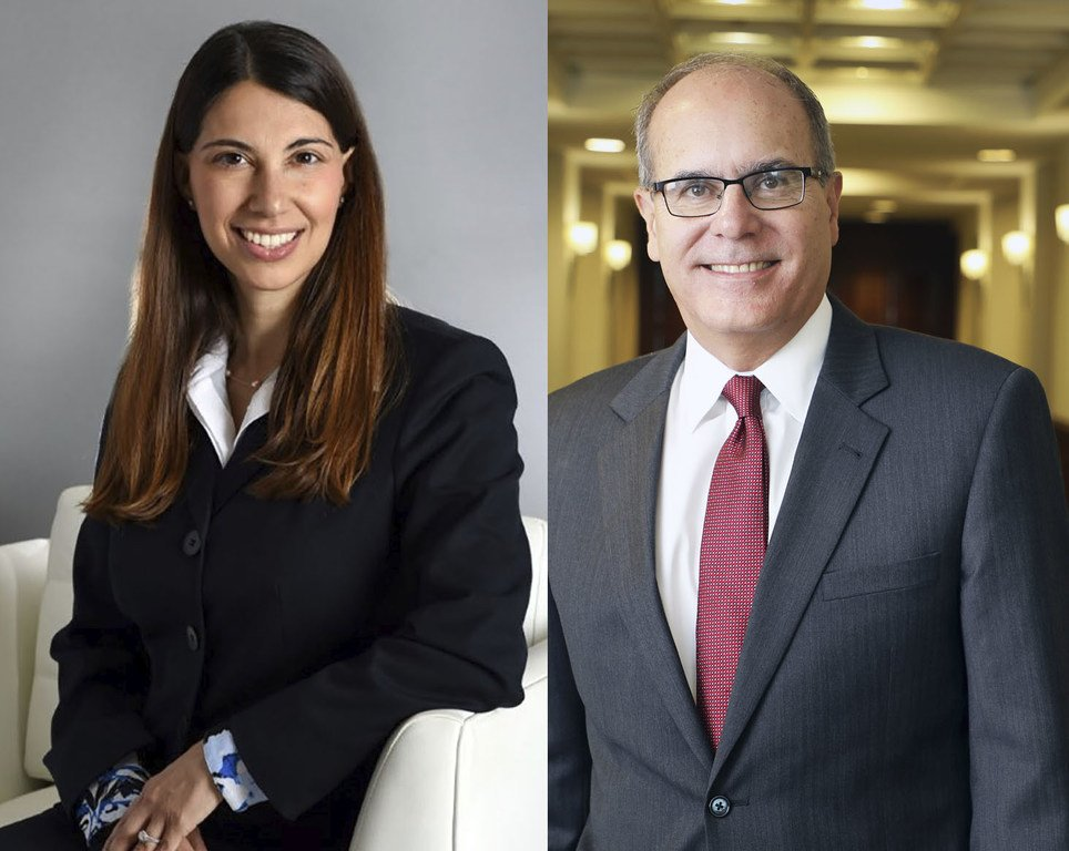Jezabel Lima, left, and Juan Enjamio, right.