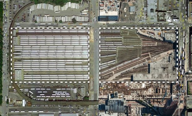 Architectural rendering of Hudson Yard Amtrak train tracks