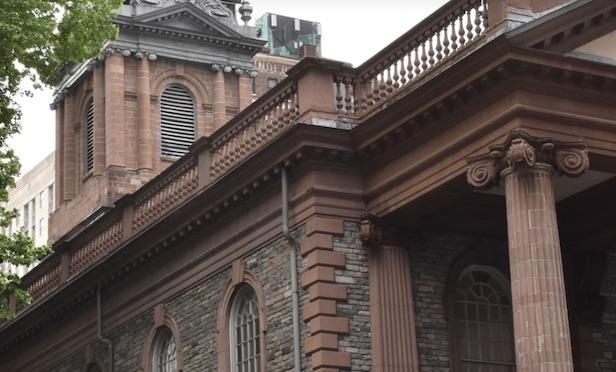 Trinity Church on Wall Street.