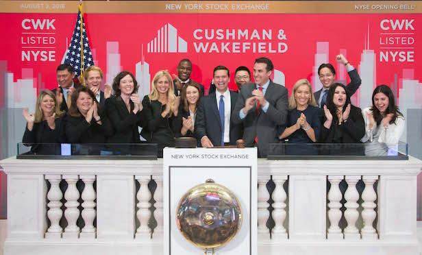 Cushman & Wakefield on NYSE bell podium