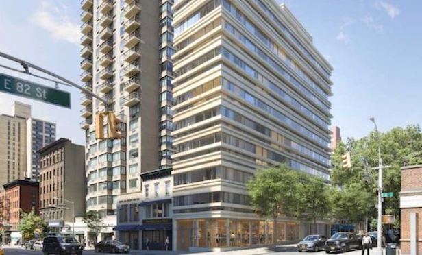 176 E. 82nd St./ Architectural rendering of planned luxury residential building