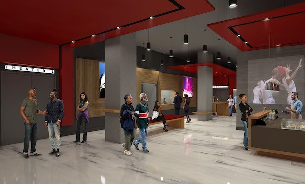 Apollo Theater rendering of lobby and box office