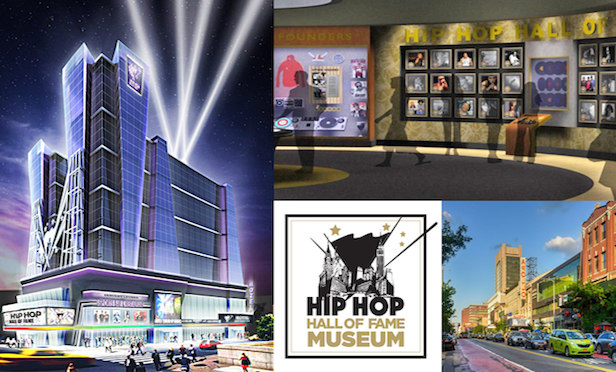 Rendering of Hip Hop Hall of Fame Museum and Hotel/ Courtesy of Bluebox Entertainment