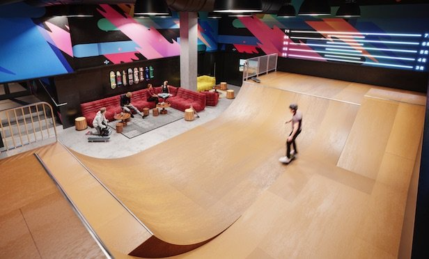 Waterline Square skate park/ Photo credit: Noë and Associates with The Boundary and @shawnax