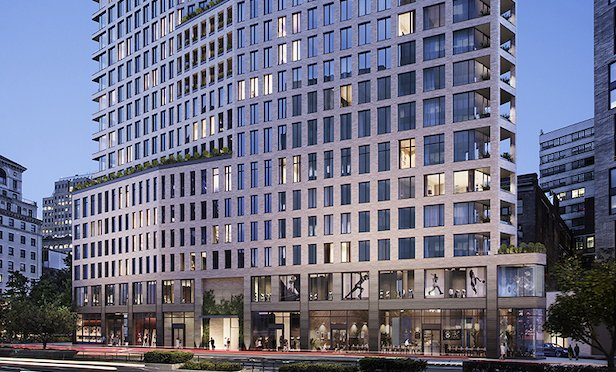 One Boerum Place is being constructed on top of Borough Hall Station in Downtown Brooklyn.