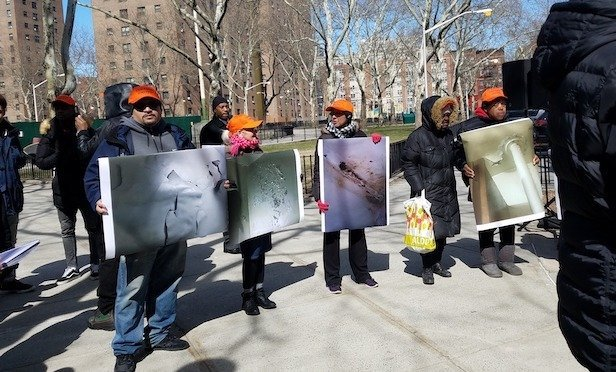 NYCHA protest at Taft House on March 17, 2018/ File photo by Betsy Kim