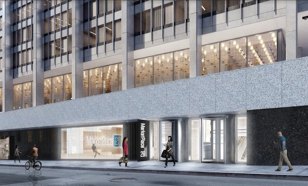 Rendering of 28 Liberty St./ Image provided by Fosun Five Holdings